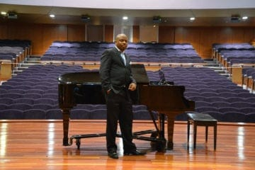 "Morehouse Director of Bands Chad ""Sir Wick"" Hughes."