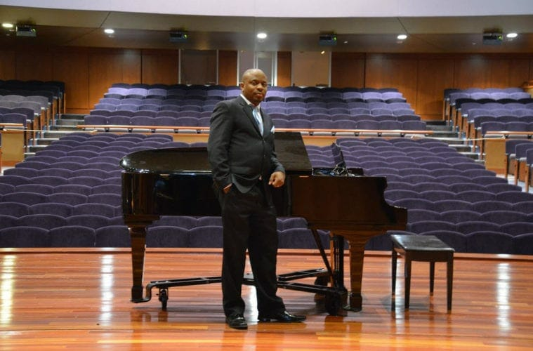 """Morehouse Director of Bands Chad """"Sir Wick"""" Hughes."""