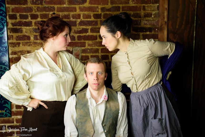 Erin Greenway (left to right), Chris Rushing and Sophie Edwards in the new Aris production.