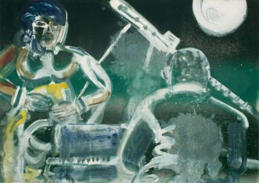 Romare Bearden: Blues at Night, 1981 Monotype on paper  29 x 41. © Romare Bearden Estate / Licensed by VAGA NY, NY.