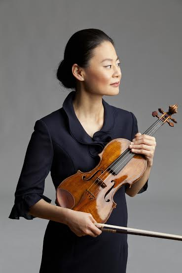 Midori is one of the few soloists capable of drawing on name recognition alone. (Photo by Timothy Greenfield-Sanders)