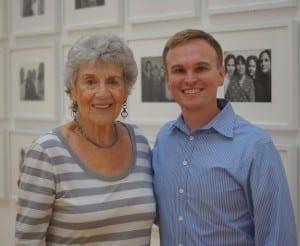 Patron Lucinda Bunnen and High curator Brett Abbott.