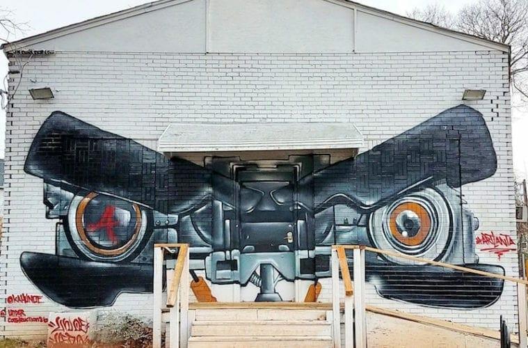 Unoe and Underconstruction86 mural