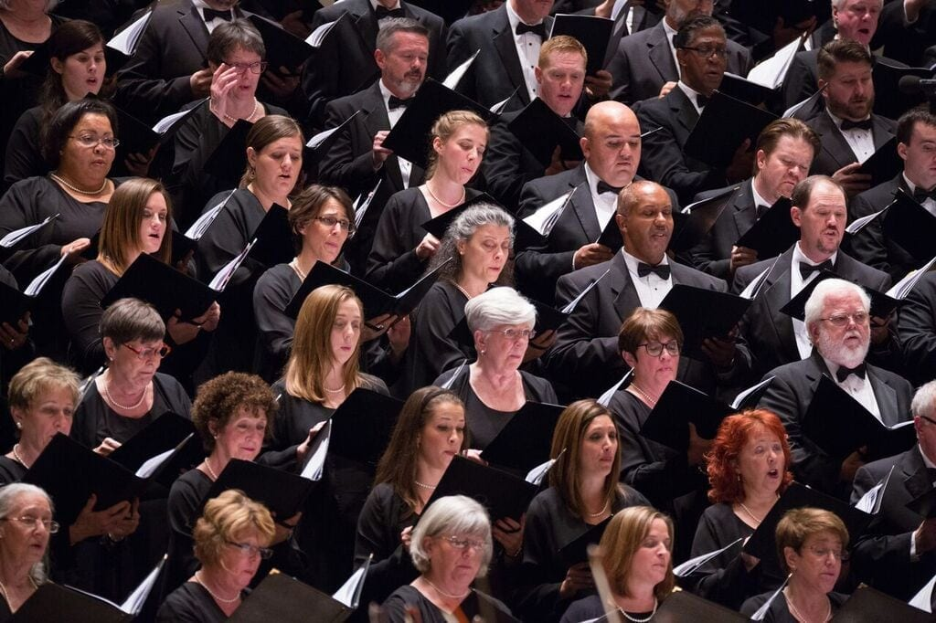 The ASO's world-class chorus stands on the shoulders of Shaw's legacy. (Photo by Jeff Roffman)