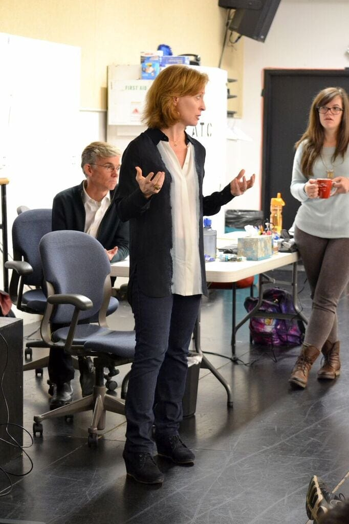Susan Booth on the first day of rehearsals. (Photo by Kathleen Covington)