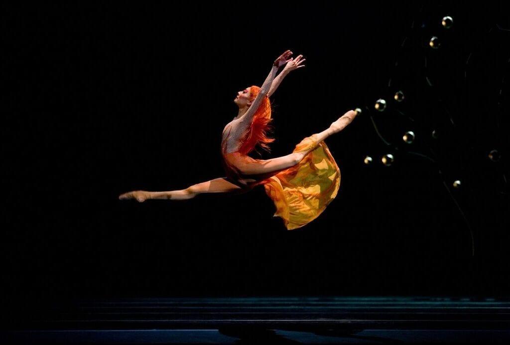 San Francisco Ballet's Yuan Yuan Tan in Yuri Possokhov's Firebird. (Photo by Erik Tomasson)