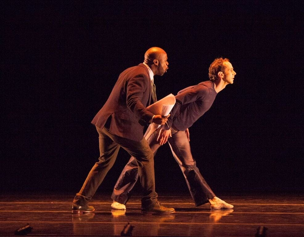 "Poet Marc Bamuthi Joseph and dancer John Welker perform ""Home in 7."""