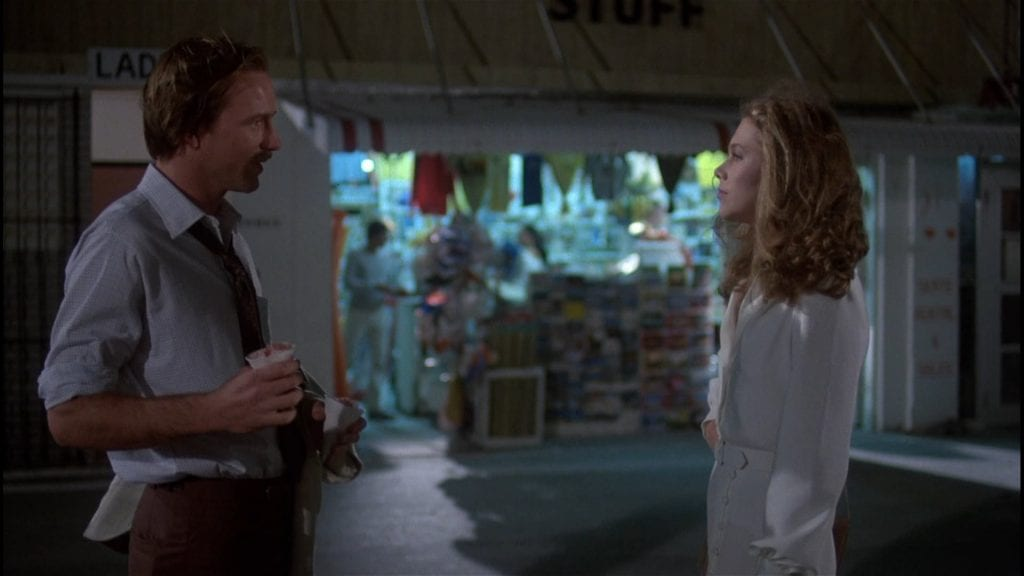 WIlliam Hurt and Kathleen Turner in Kasdan's Body Heat.