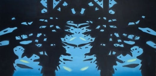 Alex Katz: Reflection 7, 2008, oil on linen, 108 x 216 inches. Collection of the artist.( Photo by Paul Takeuchi. © Alex Katz/Licensed by VAGA, New York, NY.)