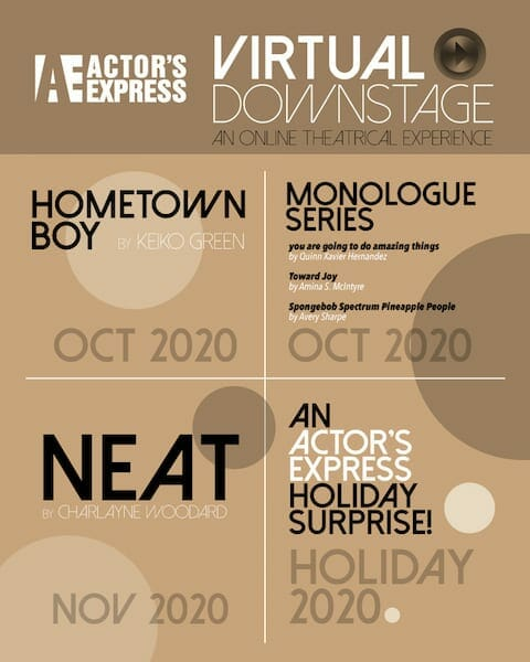 Actor's Express 2020 fall season