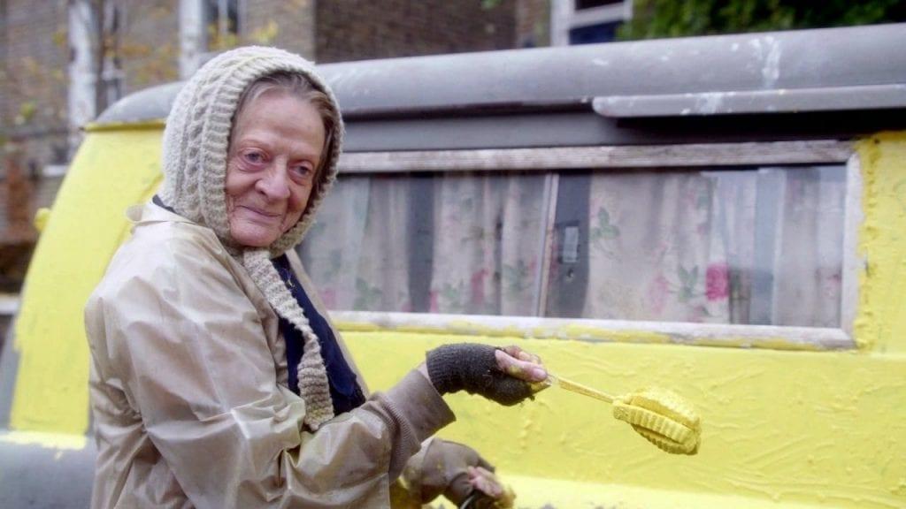 Maggie Smith and her van.