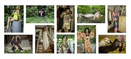 Lucinda Bunnen took pictures of drag queen Violet Chachki modeling the photographer's vintage clothing.