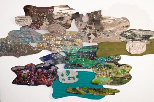 "Virginia Greaves and Leisa Rich: A panel from ""Industrial Car Wash,"" a wall-hung assemblage 20 by 7 feet."