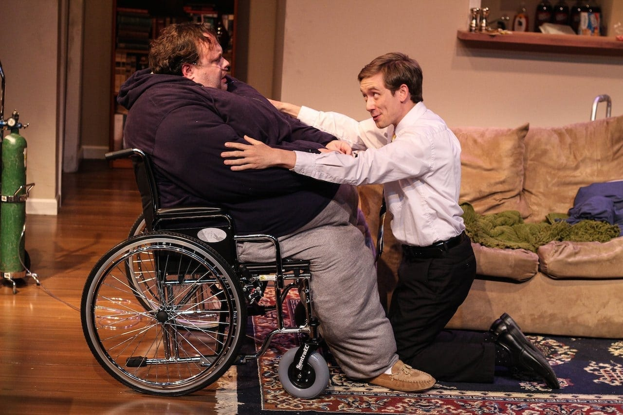 Freddie Ashley (pictured with Kyle Brumley) received the award for Best Actor for The Whale. (Photos by BreeAnne Clowdus)