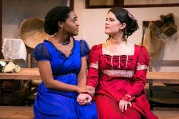 "Jasmine Thomas and Erika Miranda in ""The Wickhams,"" December 2019."