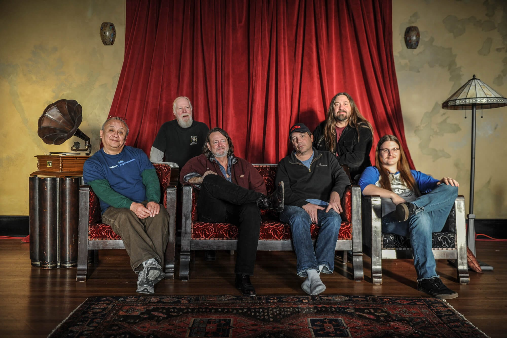 A relaxed group portrait of Widespread Panic.