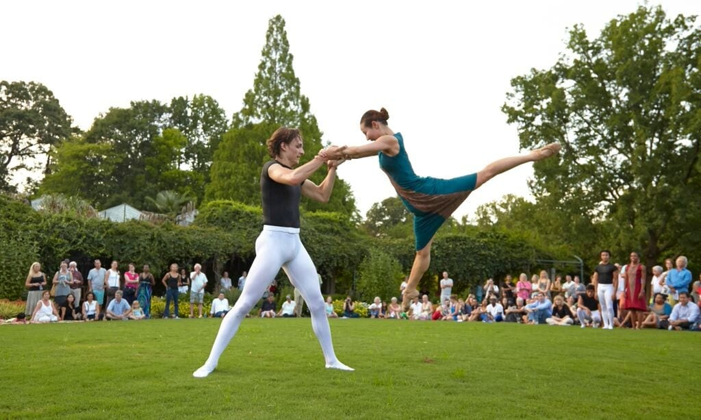 Wabi Sabi's Benjamin Stone and Yoomi Kim on the Great Lawn. (Photo by Kim Kinney)